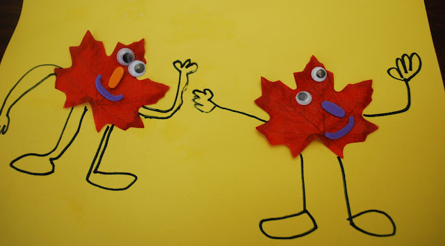 Fall leaf people activity