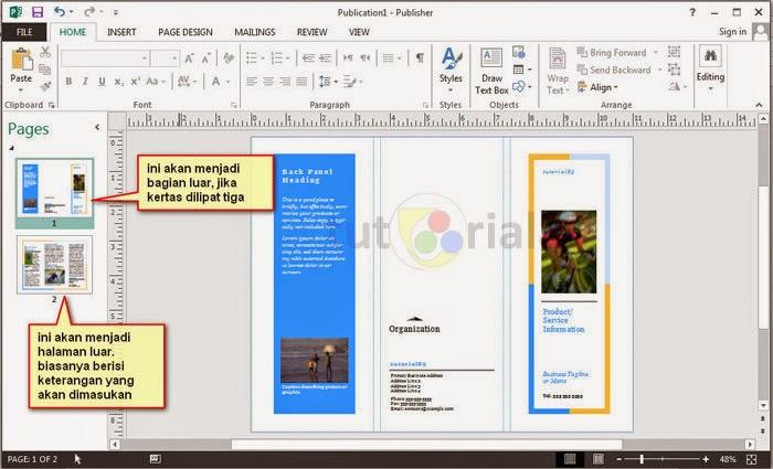 Cara cepat membuat brosur dengan publisher | Tutorial89
