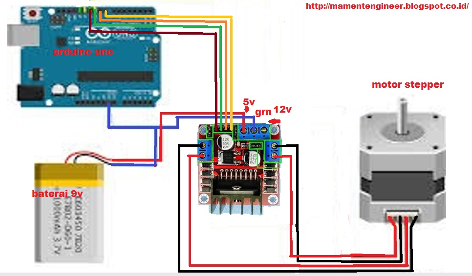 Bipolar stepper motor control with Arduino and an H