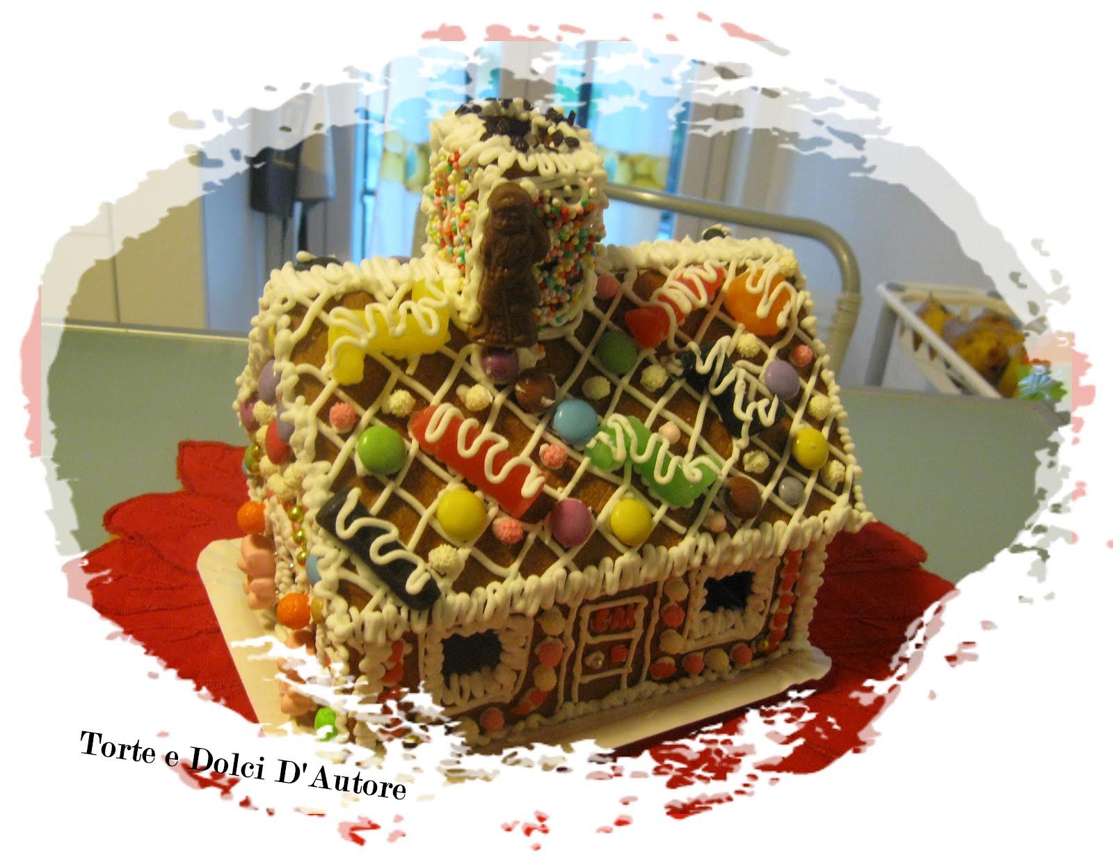 Torte e dolci d 39 autore casette di pan di zenzero - Casa di caramelle ...