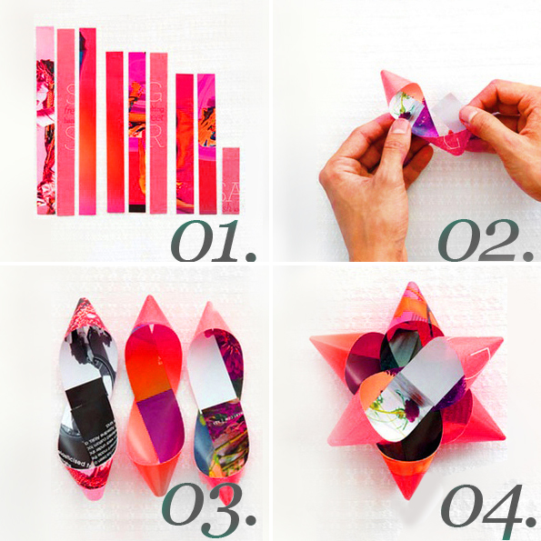 Maiko Nagao Diy Upcycled Magazine Gift Wrap Bow