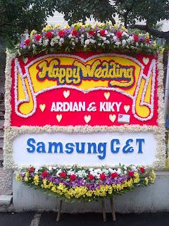 bunga papan pernikahan toko bunga jakarta