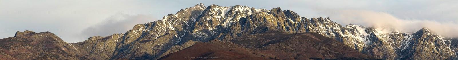 Vista panorámica de la cara sur de Gredos, el 9 febrero de 2012