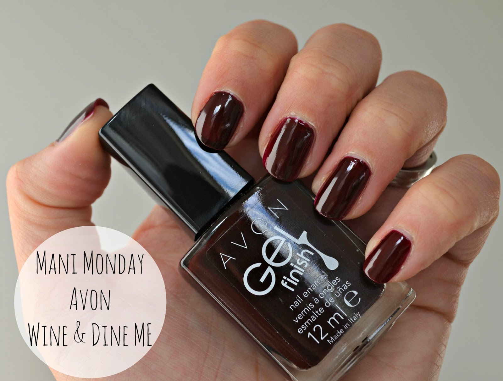Avon Gel Finish Nail Enamel Wine and Dine Me