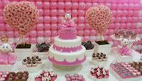 mesa decorada de festa de aniversário