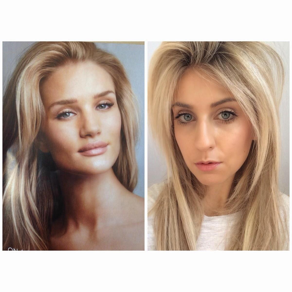 Makeup look Rosie Huntington-Whiteley