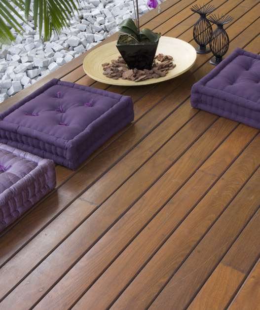 Ara construcciones en general decks en madera una - Baldosas de madera para exterior ...