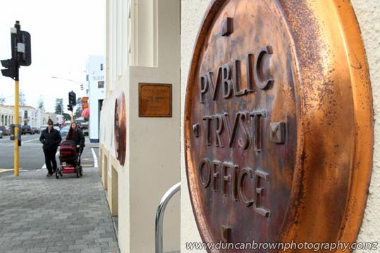 Ye Olde Public Trust Office in Tennyson St, Napier photograph