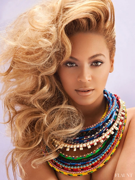 Beyonce flaunt magazine cover