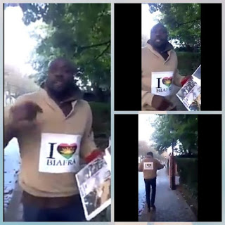 IPOB Man Places A Coffin For Buhari At Nigerian Embassy In Belgium {see the photo}