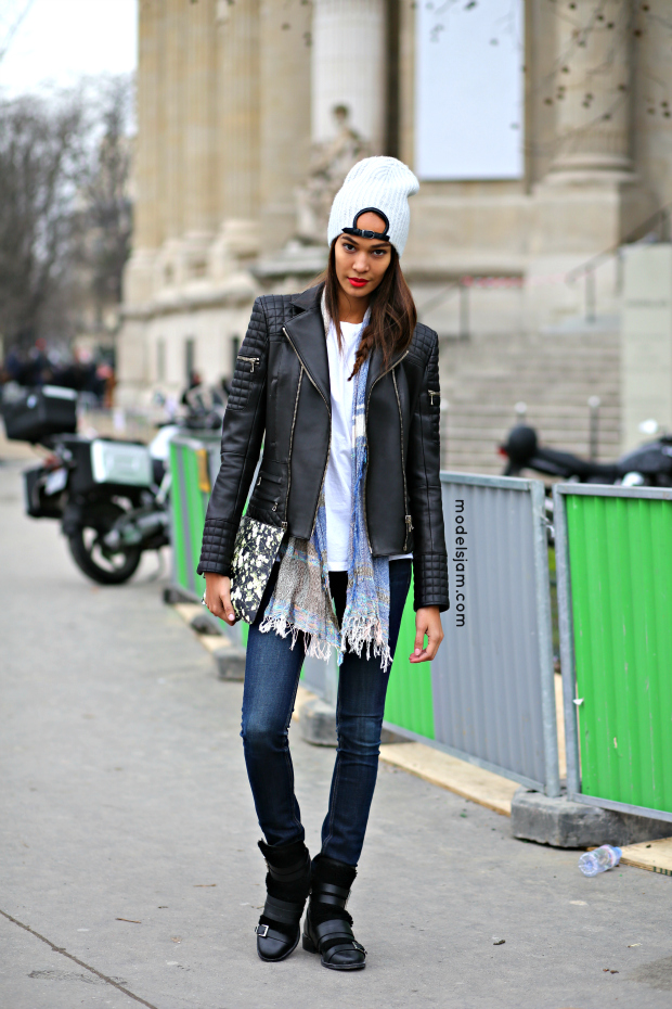 Joan Smalls, Paris, January 2015