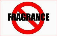 picture of the word fragrance with a large red line through it.