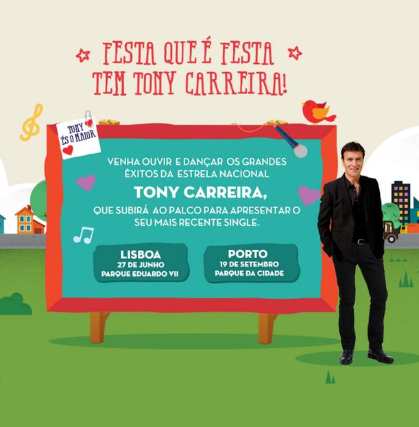 Concerto de Tony Carreira em Lisboa e Porto