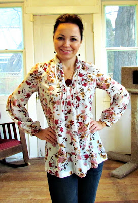 Home sewing, floral tunic, DIY, crafting, Simplicity sewing patterns, pattern review