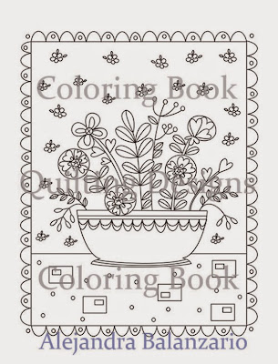 Coloring book for adults Quilting Designs