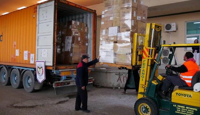 Ομογενείς της Αμερικής δώρισαν ένα κοντέινερ με υγειονομικό υλικό στα Νοσοκομεία της Θράκης