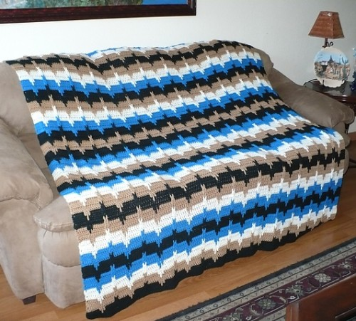Jacob's Ladder Afghan - Free Pattern