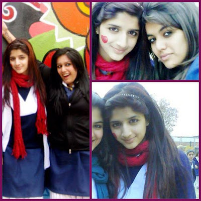 Cute Mawra Hocane in her school days At Bahria Islamabad