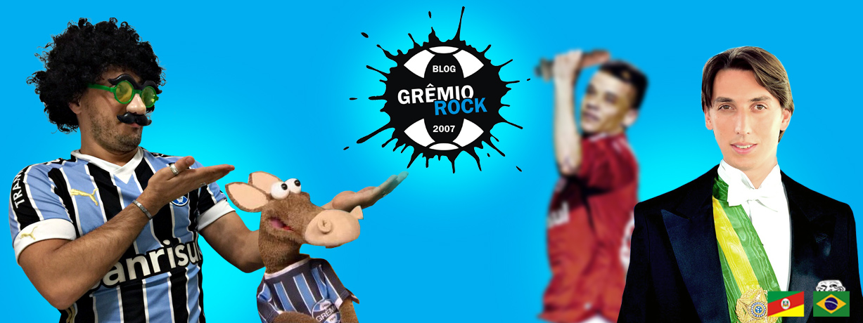 GRÊMIO ROCK | Humor negro, azul e branco