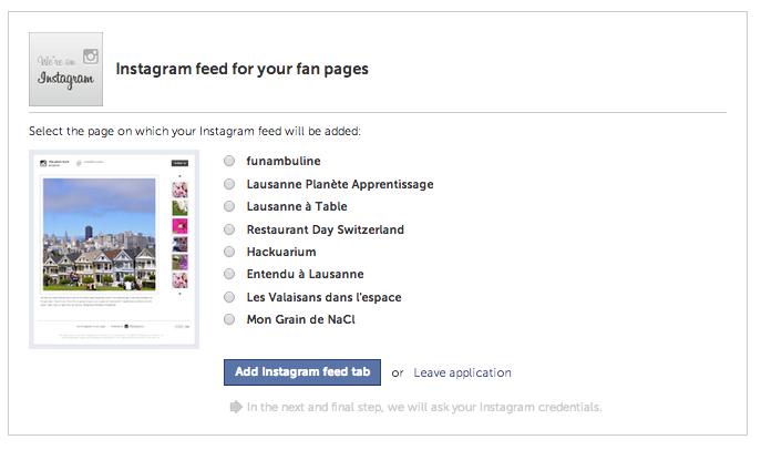 Comment cr er un onglet instagram sur une page facebook funambul in e co - Comment rester connecter sur facebook ...