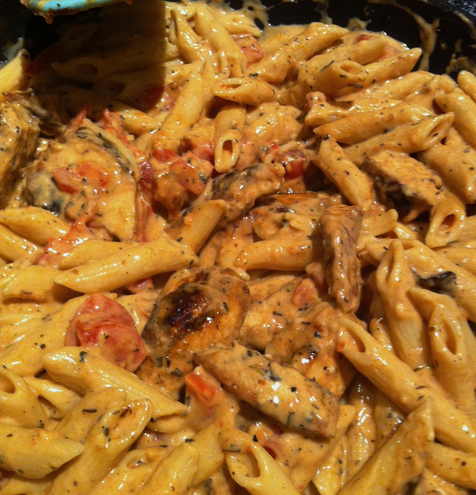 ... Baking: Penne with Blackened Chicken and Sun-Dried Tomato Basil Sauce