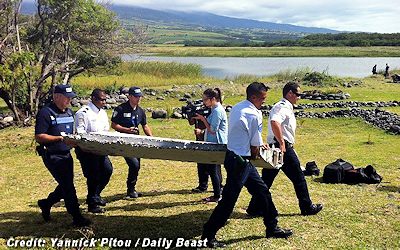 Airplane Debris Washed Up On Beach is of Missing MH370