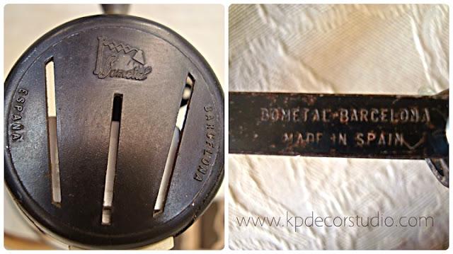 Lámparas y flexos bometal antiguos de los años 50
