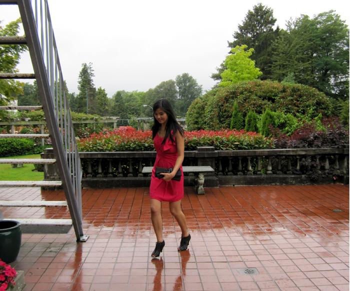 Hot Pink BCBG dress