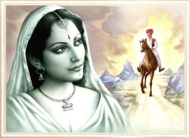 Rajasthani Girls Art Paintings 37