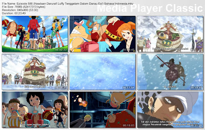 Download Film One Piece Episode 586 (Keadaan Darurat! Luffy Tenggelam Dalam Danau Es!) Bahasa Indonesia