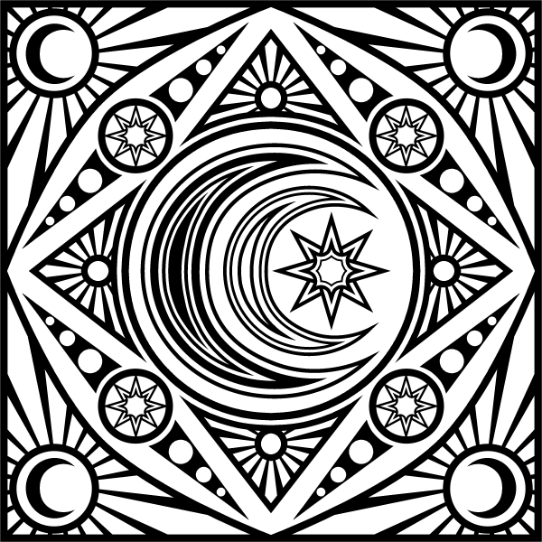 celestial coloring pages - photo#3