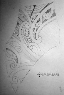samoan mauri shoulder back tattoo flash