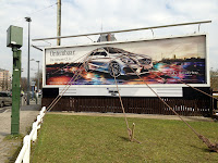 Mercedes and BBDO create cool billboard for new Mercedes CLA