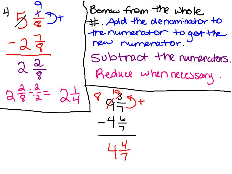 7th Grade Fraction Worksheets http://swickey678.blogspot.com/2011/10 ...