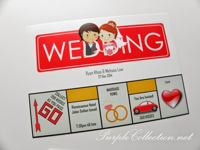 Monopoly Wedding Card, Invitation, Malaysia, modern, personalized, personalized, cute, cartoon, couple, chinese, renaissance hotel, jalan sultan ismail, marriage vows, you're invited, love, envelope, selangor, kuala lumpur, ipoh, perak, penang, kedah, perlis, melaka, seremban, johor bahru, singapore, kuantan, bentong, pahang, terengganu, australia, affordable, online, purchase, buy, sell, portfolio, pinterest, new zealand, victoria, sydney, adelaide, melbourne, canberra, United kingdom, united states of america, peonies, chinese, western, printing, cetak, kad kahwin, murah, sticker, door gift, wedding favour, thank you tag, wedding ring, car rental, wedding decoration, service