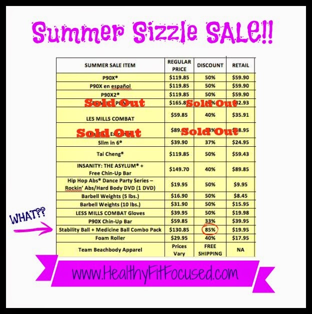 Summer Sizzle Beachbody Sale, www.HealthyFitFocused.com