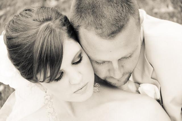 romantic bride groom