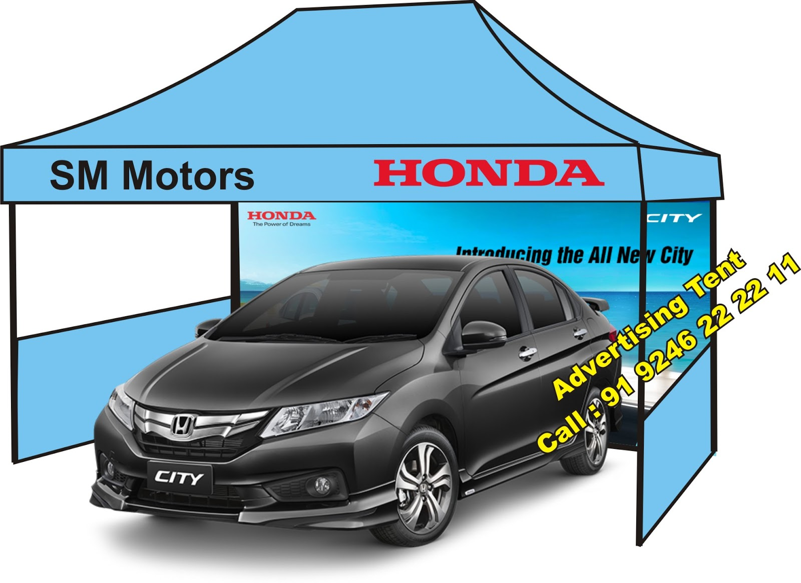 Honda Car Dealers Advertising Products And Marketing Tents Suppliers In India At Low Price Call 91 9246372692 9246222211 Web Hitechpublicity