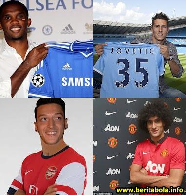 daftar transfer pemain liga inggris 2013 2014 hasil bursa transfer