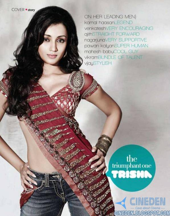 Trisha Krishnan Sexy Hot HQ Photoshoot on SouthScope Magazine August 2011