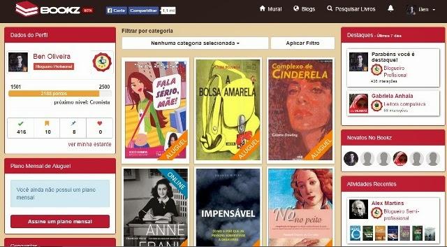 Bookz, Rede Social Brasileira para aluguel de livros