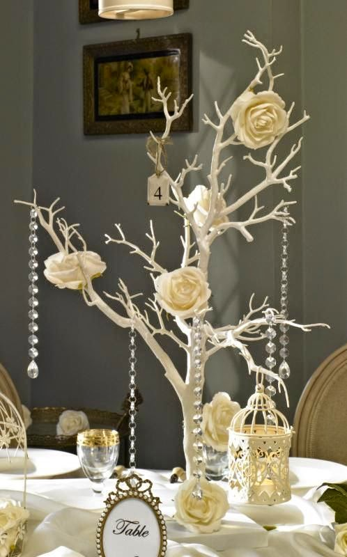 Vintage chic wedding decorations the for Vintage wedding decorations