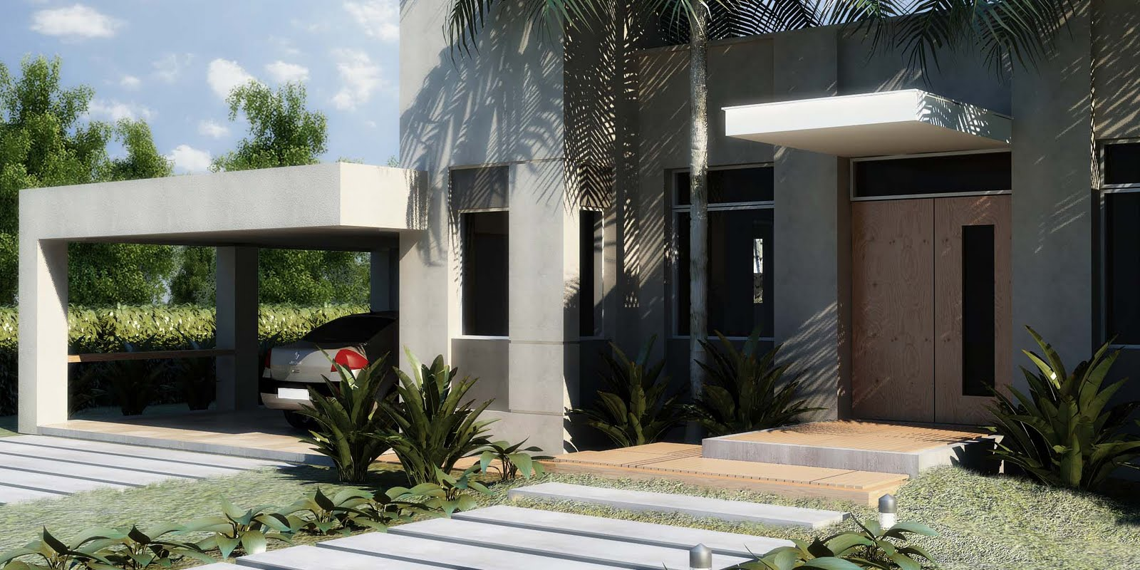 D5max render casas 3d for Render casa minimalista