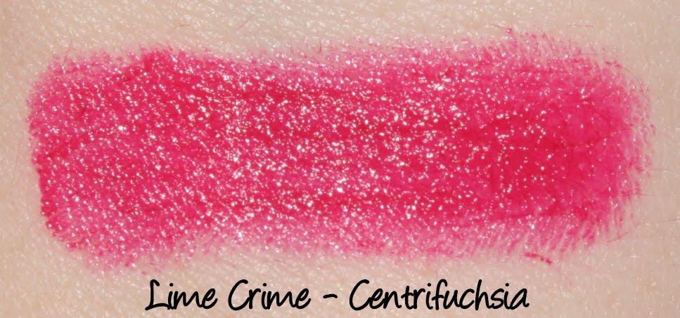 Lime Crime Centrifuchsia Lipstick Swatch