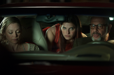 Lake Bell, Fred Melamed, and Alexandra Holden in In A World...