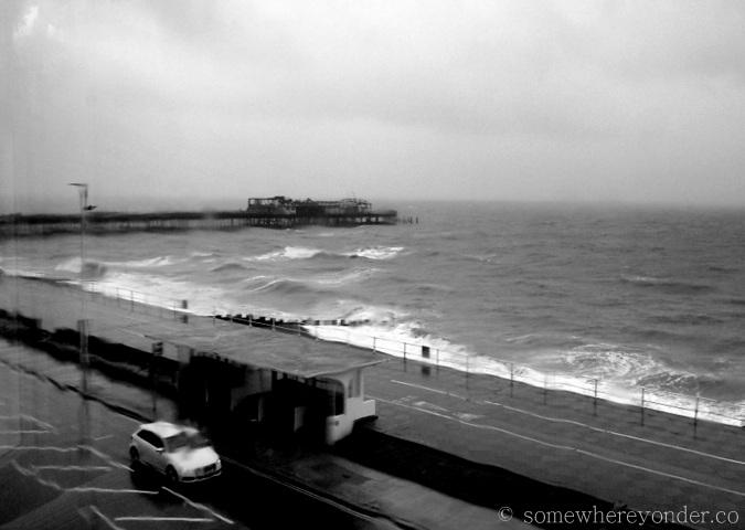 A rainy day - Hastings Beach, England