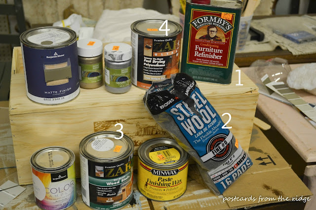 Postcards from the Ridge: How to refinish furniture tutorial with complete instructions and products needed.