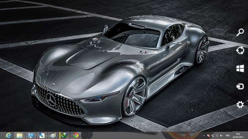 Mercedes Benz Amg Vision Gran Turismo Concept Theme For Windows 7 And 8 8.1