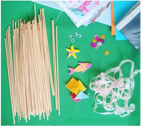 Round Wooden Lolly Sticks & Craft Materials
