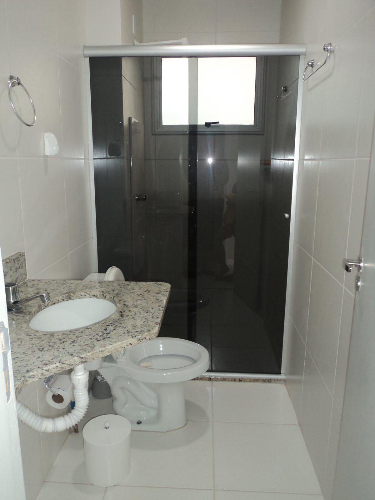 Meu Pequeno Apê Banheiro Social Antes e Depois -> Banheiro Pequeno Largura